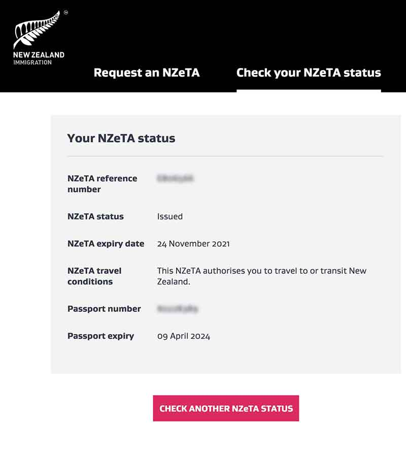 Nzeta Status Issued